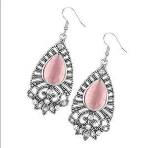 Francescas Pink Bling Teardrop Earrings